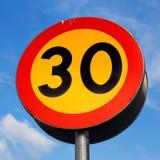 Km/tim för hastighetsbegränsning 30 Royaltyfri Bild