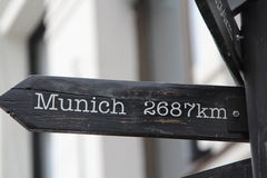 2687 km to Munich Royalty Free Stock Images