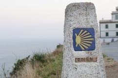 (0) km w trasie Santiago Obraz Stock