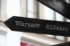2134 km Warszawa Zdjęcia Royalty Free