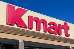 Kmart retail store exterior. SALINAS, CA/USA - APRIL 23, 2014: Kmart retail store exterior. Kmart is an American chain of discount department stores Stock Photography