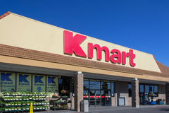 Kmart retail store exterior. SALINAS, CA/USA - APRIL 23, 2014: Kmart retail store exterior. Kmart is an American chain of discount department stores Royalty Free Stock Images