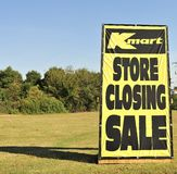 Kmart Store Closing Sign Stock Images