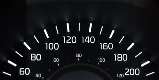 Kmh del tachimetro 60-200 Immagine Stock