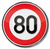 Kmh do limite de velocidade 80 ilustração royalty free