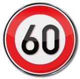 Kmh limite di velocità 60 illustrazione vettoriale