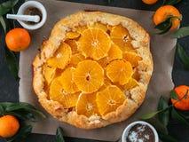 Kminkowy i pomarańczowy tarta Obraz Royalty Free