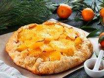 Kminkowy i pomarańczowy tarta Obrazy Stock