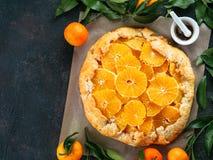 Kminkowy i pomarańczowy tarta Obraz Stock