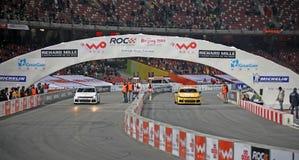 kämpar för den beijing kändischallengen 2009 racen Royaltyfria Foton