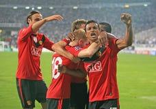 kämpar för ligamatchfotboll Fotografering för Bildbyråer