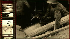 Kämpfe des Zweiten Weltkrieges stock video footage