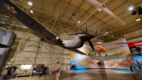 Kämpfer Curtiss P-40E Warhawk auf Anzeige am pazifischen Luftfahrt-Museum Perle Habor Lizenzfreies Stockfoto