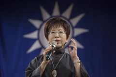 KMT Chairwoman Hung Hsiu-chu Royalty Free Stock Photos