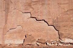 knäcka torr vägg Arkivbild