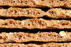 Knäckebrood die op een andere liggen Royalty-vrije Stock Afbeelding