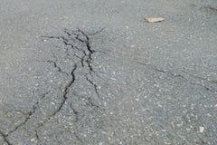 Knäckt asfalt Royaltyfri Foto