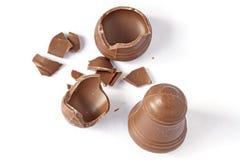 Knäckt choklad royaltyfri fotografi