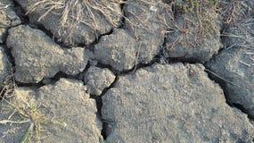 Knäckt jord Arkivfoto