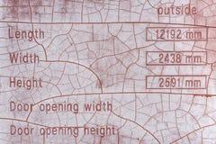 Knäckte mätningar kartlägger, hivade Laggon, East Sussex, UK arkivfoton