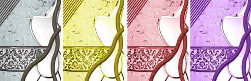 Knäckte texturerade abstrakt begrepp Arkivbilder