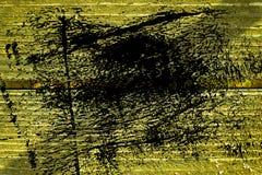 Knäckte träyttersida för ultra gul grunge för designmodell textur- eller mörkerbakgrund Royaltyfria Foton