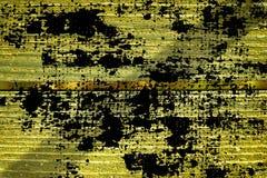 Knäckte träyttersida för ultra gul grunge för designmodell textur- eller mörkerbakgrund Arkivbild