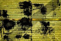 Knäckte träyttersida för ultra gul grunge för designmodell textur- eller mörkerbakgrund Royaltyfri Bild