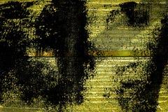 Knäckte träyttersida för ultra gul grunge för designmodell textur- eller mörkerbakgrund Arkivfoton