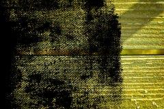 Knäckte träyttersida för ultra gul grunge för designmodell textur- eller mörkerbakgrund Arkivfoto