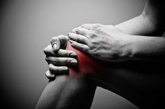 knäet smärtar Fotografering för Bildbyråer