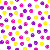 Knäppas den sömlösa modellen för vektorn med den färgrika violeten, guling och magentafärgad färg för ros på vit bakgrund För tem Arkivbild