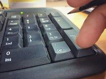 Knäppas det numeriska tangentbordet Fotografering för Bildbyråer