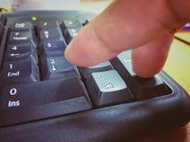 Knäppas det numeriska tangentbordet Arkivbilder
