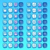 Knäppas modiga symboler för is symboler, manöverenheten, ui vektor illustrationer