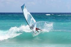 knäppet vindsurfar Royaltyfri Foto