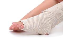 Knöchel-Verletzung Stockfotos
