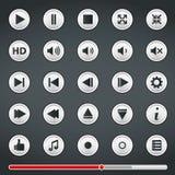 Knöpfe für Media Player Stockbild