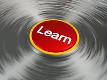 Knöpfen Sie, das erlernen sagt Stockbilder