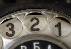 Knöpft altes Telefon Stockbild