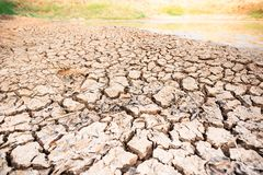 Kn?ckt jord i dammet, torka i sommar royaltyfri fotografi