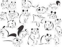Knaagdieren stock illustratie