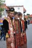 Knabe von Eingeborenem Kadazan Dusun Lotud von Sabah Malaysia Borneo Stockbild