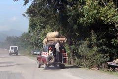 Knacka lätt på klappet nära lockhaitiern, Haiti Royaltyfri Foto