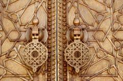 Knackare från slottdörr på Fez Fotografering för Bildbyråer