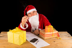 Knakcered Santa Stock Image