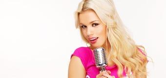 Knal vrouwelijke blonde royalty-vrije stock afbeeldingen