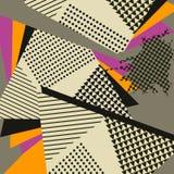 Knall-Art Abstract Geometric Collage Orange-Muster Stockfoto