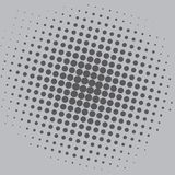 Knall-Art Grey Dots Comic Background Vector Template-Design Lizenzfreies Stockbild