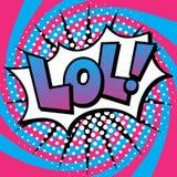 Knall Art LOL Text Design Stockbilder